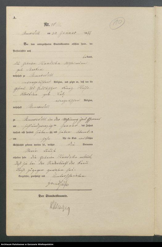 "Obraz 12 z jednostki ""Geburts Register"""