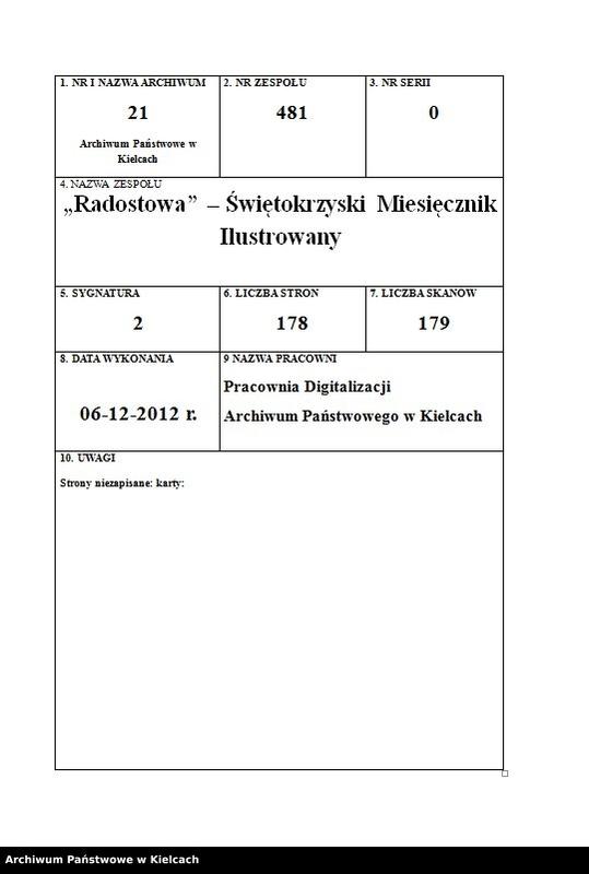 """Obraz z zespołu """"""""Radostowa"""" - Świętokrzyski Miesięcznik Ilustrowany"""""""