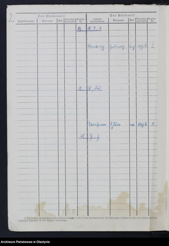 """Obraz z jednostki """"Familienbuch/Zweitbuch/Nr 1 - 5"""""""