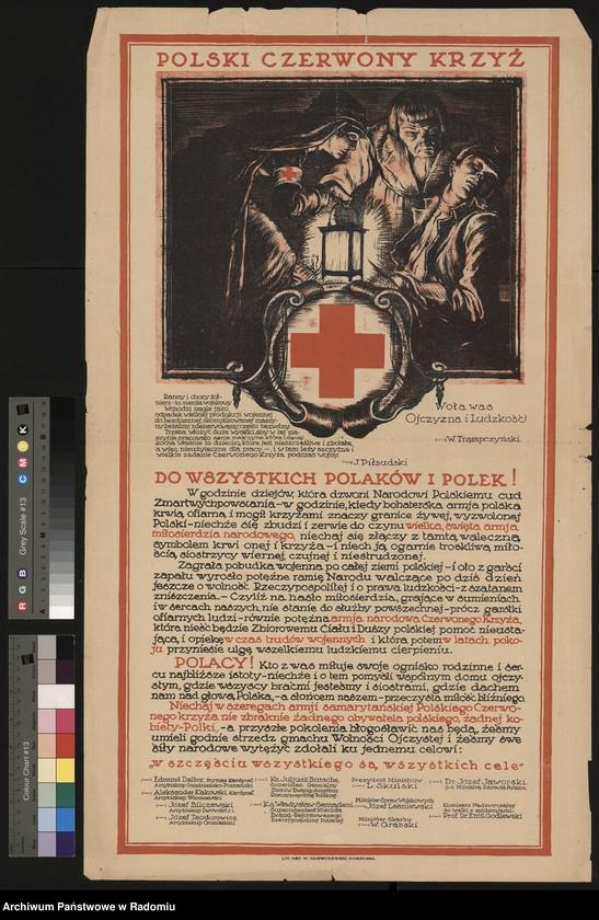 """Obraz 6 z kolekcji """"Polskie Towarzystwo Czerwonego Krzyża (Od 1927 r. Polski Czerwony Krzyż)"""""""