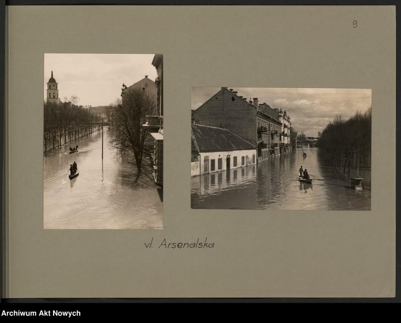 """Obraz 12 z jednostki """"Powódź na Wileńszczyźnie w 1931 r. Album z fotografiami."""""""