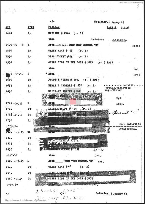 """Obraz z jednostki """"Skrypty audycji z dnia 04.01.1964"""""""