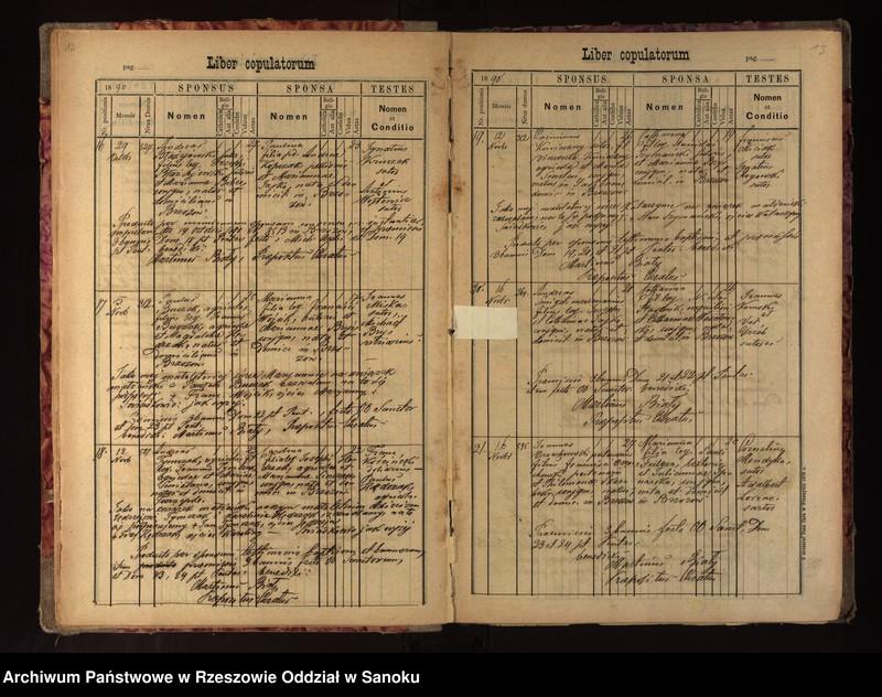 """Obraz 11 z jednostki """"Księga metrykalna urodzeń, małżeństw, zgonów dla miejscowości Brzozów"""""""