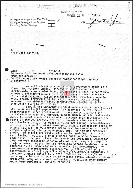 """Obraz 10 z jednostki """"Skrypty audycji z dnia 09.11.1963"""""""
