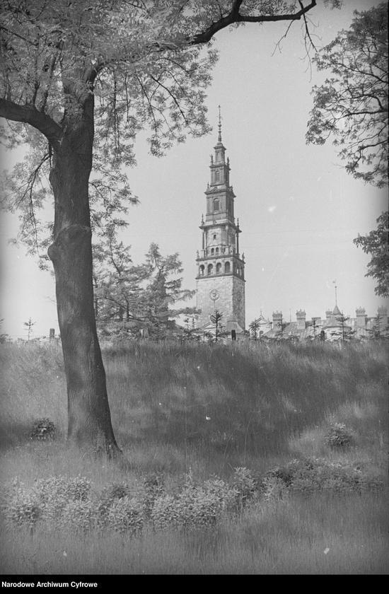 Obiekt Widok zewnętrzny wieży klasztornej. z jednostki Częstochowa