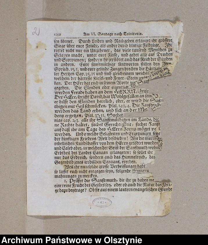 """image.from.unit """"1. Predikte im Jahre 1728 /Bruchstück/ 2.Amtsblätter pro 1842-1848 3. Lieder, Couplete usw. nach d. 1871 J. 4. Zeitungsausschnitte 1932"""""""