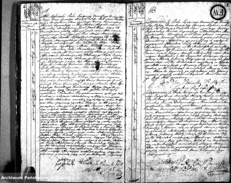 """image.from.unit """"Akta Zaślubionych Gminy Kopciowskiey Urzędnika Stanu Cywilnego na Rok 1825"""""""
