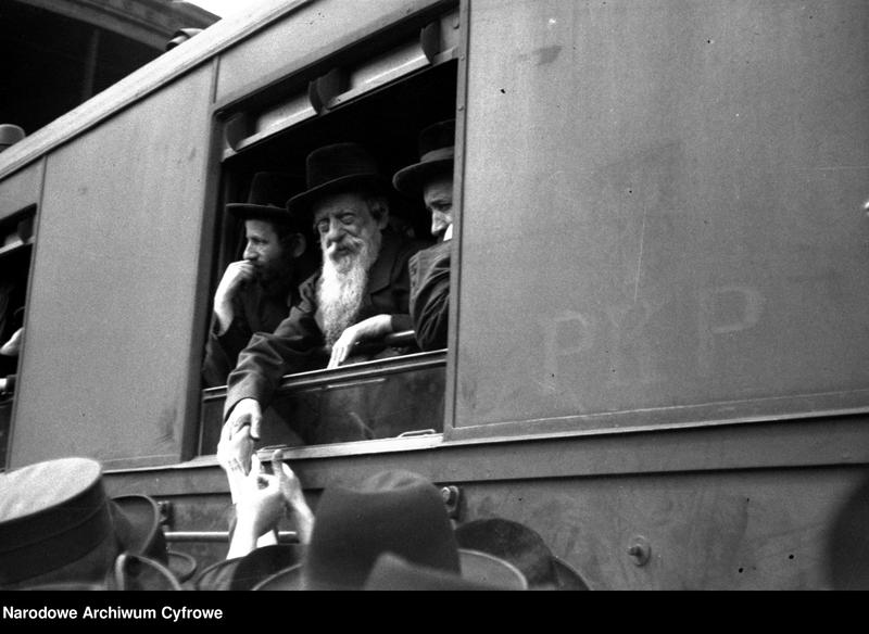 """Obraz z jednostki """"Powrót rabina cudotwórcy z Czortkowa Izraela Friedmanna z Karlsbadu"""""""