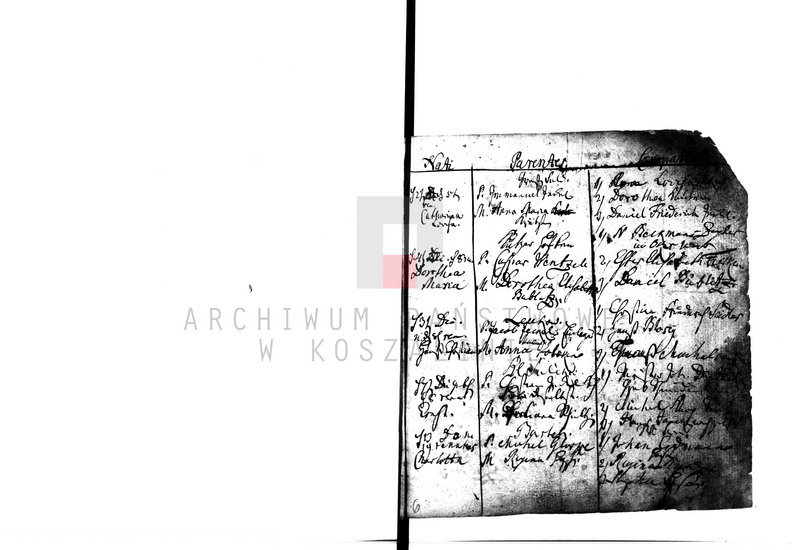 """Obraz 5 z kolekcji """"Najstarsze księgi metrykalne w zasobie AP w Koszalinie"""""""