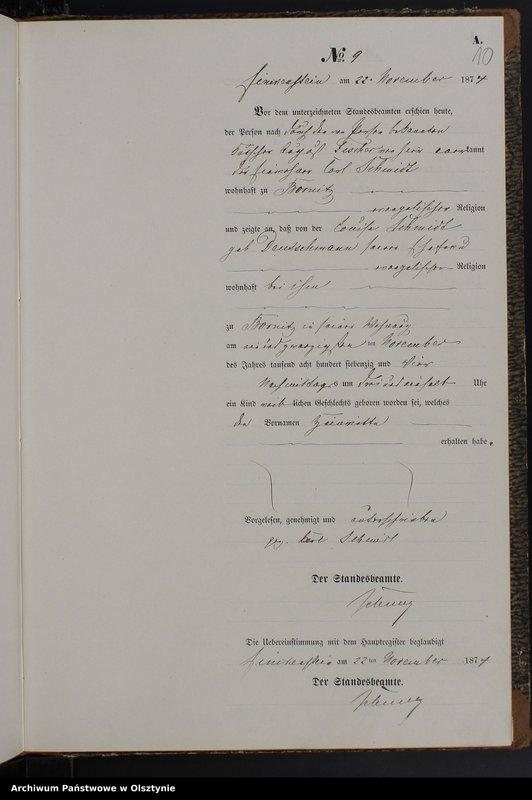 """image.from.team """"Urząd Stanu Cywilnego w Kamieńcu pow. iławski ( dawny pow. suski )"""""""