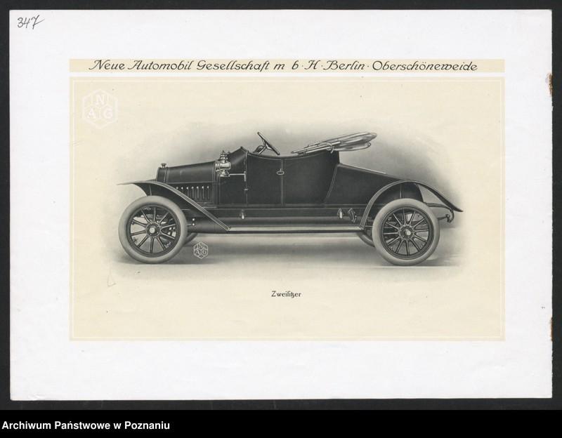 """Obraz 16 z kolekcji """"Automobile - prospekty reklamowe z początku XX wieku"""""""
