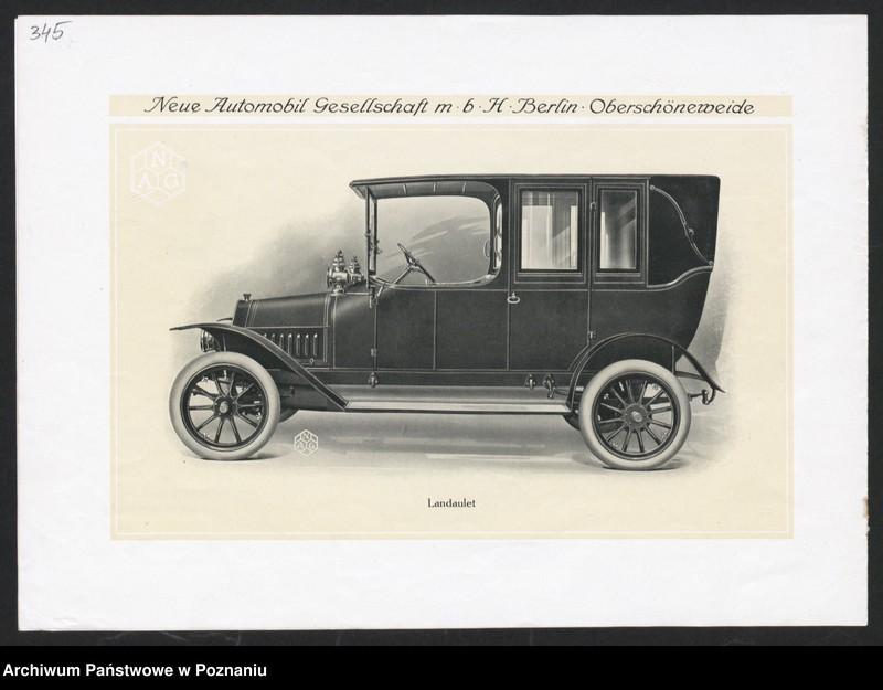 """Obraz 14 z kolekcji """"Automobile - prospekty reklamowe z początku XX wieku"""""""