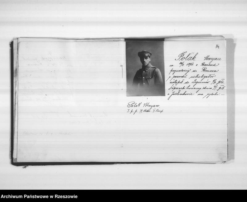 """Obraz 14 z jednostki """"Delegatura Departamentu Wojskowego N.K.W. Rzeszów (album superarbitrowanych Legionistów)."""""""