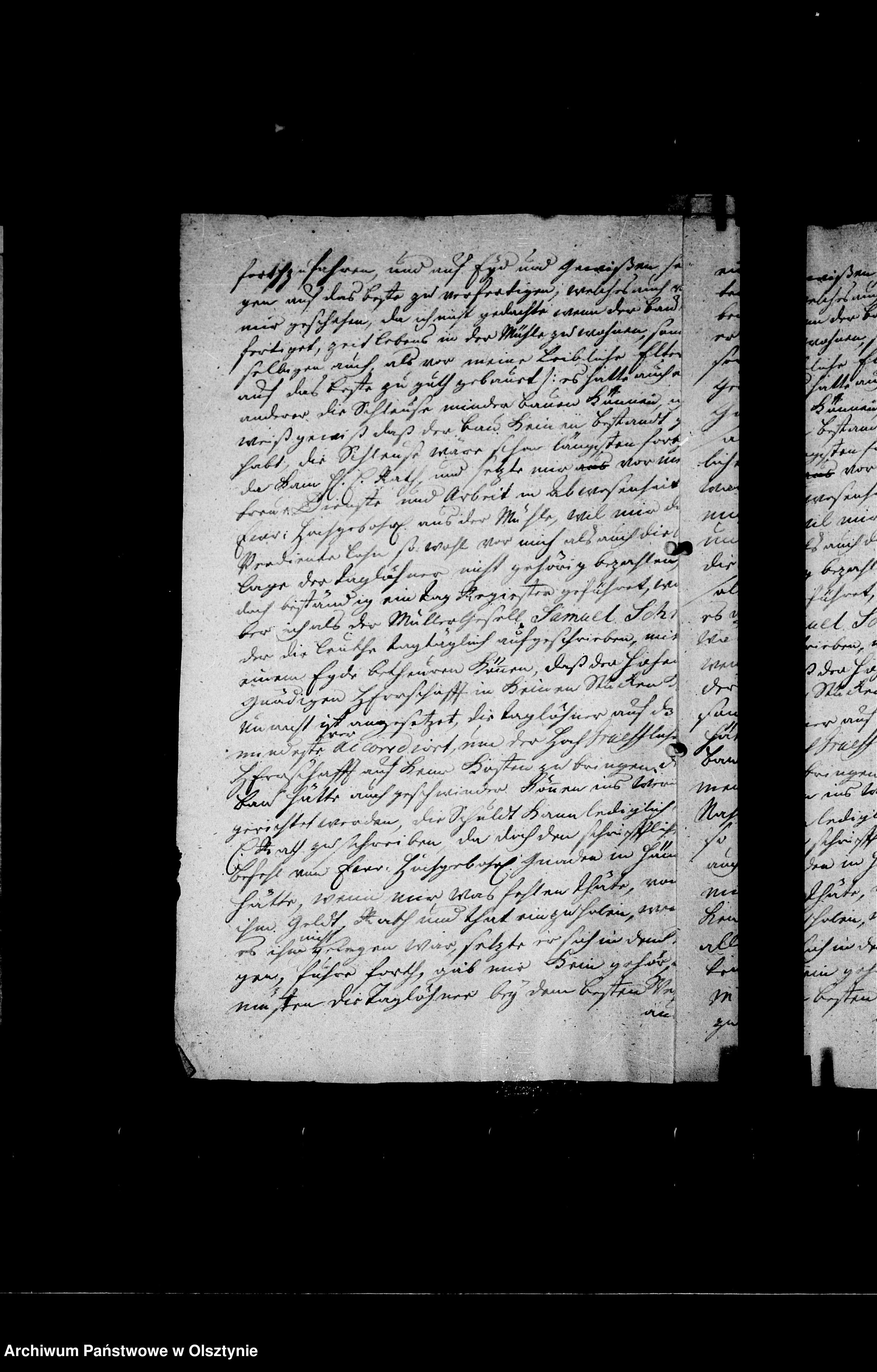 Skan z jednostki: /Geschäftsbriefe an den Kammerherrn Oberlandhofmeister Ahasver Heinrich Gf. Lehndorff/