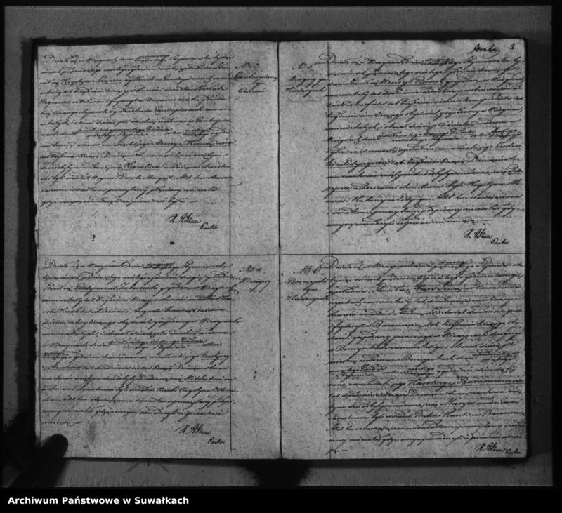"""image.from.unit """"Duplikat do zapisywania aktów urodzeń, małżeństw i zeyścia parafii Ewangelicko-augsburskiej w Wiżajnach"""""""