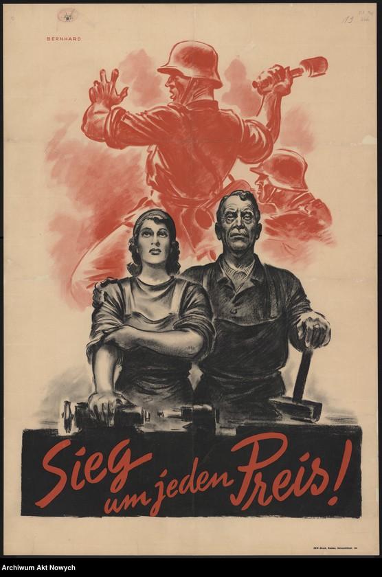 """Obraz 11 z kolekcji """"Propaganda niemiecka z okresu II wojny światowej."""""""