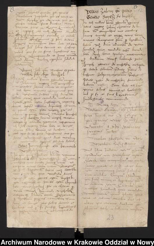 """Obraz 7 z kolekcji """"Fragment księgi wójtowsko - ławniczej miasta Starego Sącza z lat 1480-1563"""""""