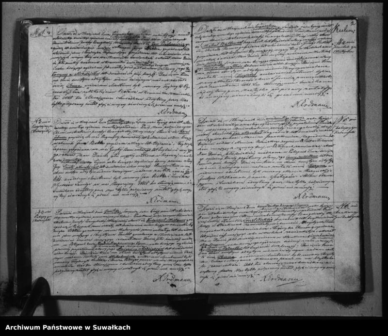 """Obraz z jednostki """"Księga Duplikat do zapisywania Aktu Urodzonych, Zmarłych i Zaślubionych w Parafii Ewangelickiej Wiżajnskiej na rok 1844"""""""