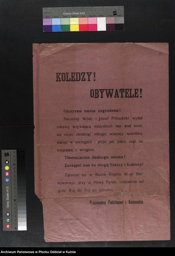"""Obraz 14 z kolekcji """"plakaty z wojny polsko-bolszewickiej"""""""