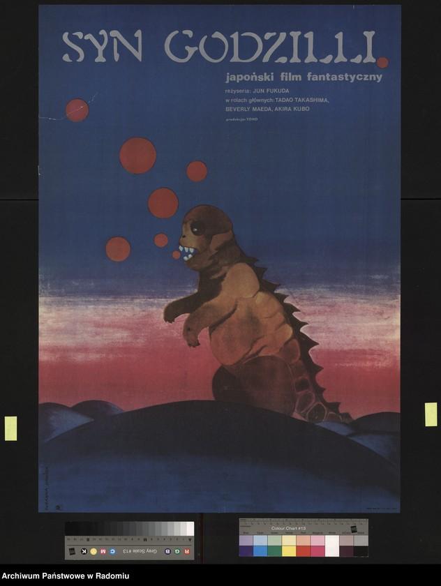 """Obraz 4 z jednostki """"Plakat filmowy """"Syn Godzilli"""", reż. Jun Fukuda"""""""