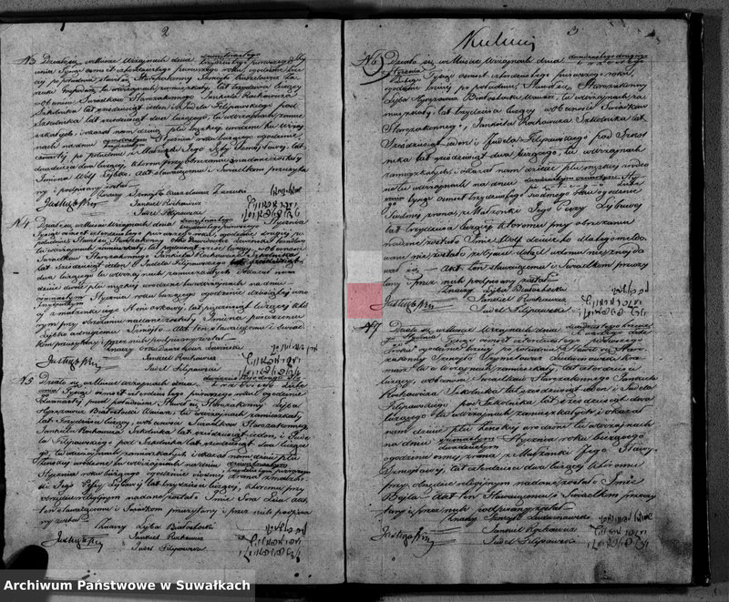 """Obraz z jednostki """"Duplikat Akt Urodzonych, Zaszlubionych i Umarłych Wyznania Nie chrześcijańskiego Parafii Wiżajny z Roku 1841"""""""
