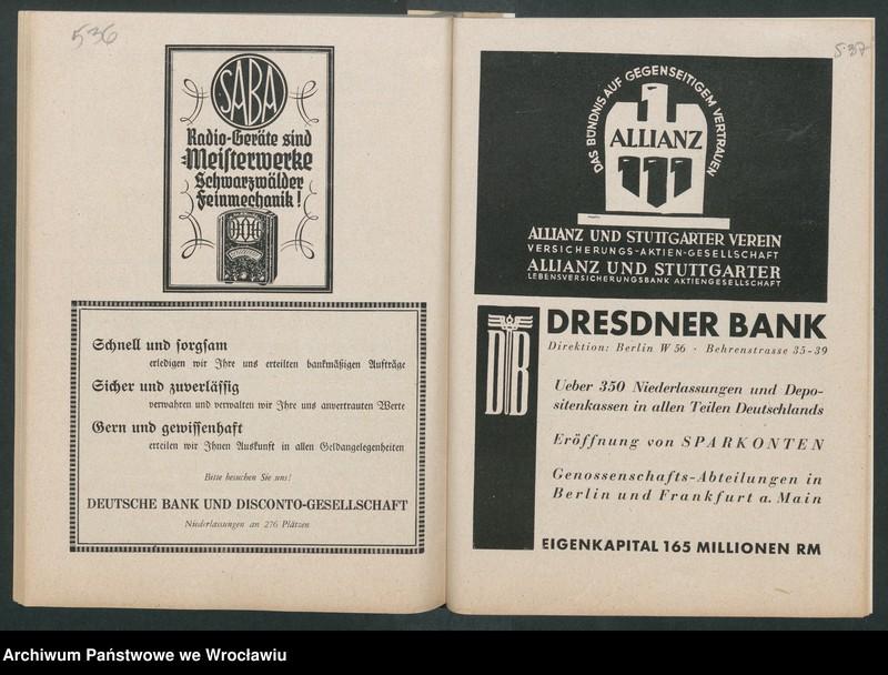 """Obraz 12 z kolekcji """"Reklamy znanych marek w roczniku """"Unsere Saar"""" z 1935 roku"""""""