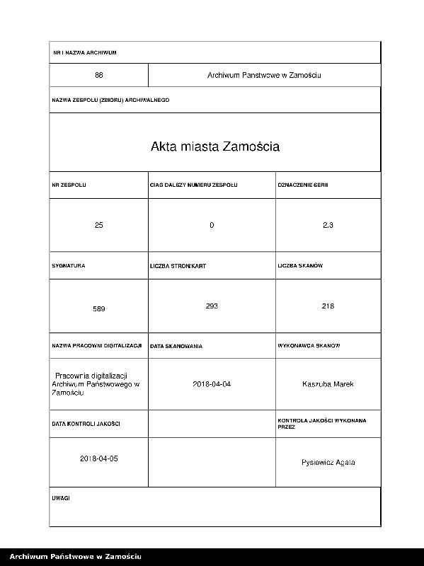 """Obraz 1 z jednostki """"W sprawie urządzania parku im. Kanclerza Jana Zamojskiego"""""""