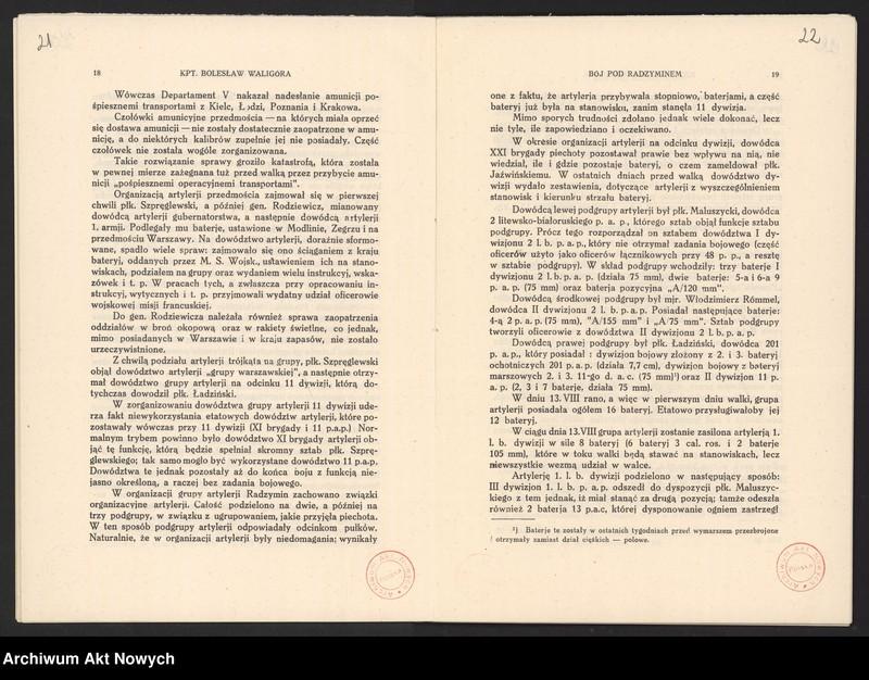 """Obraz 15 z jednostki """"Materiały dotyczące wojny 1920 roku. Odpisy akt, plany, wycinki prasowe. """""""