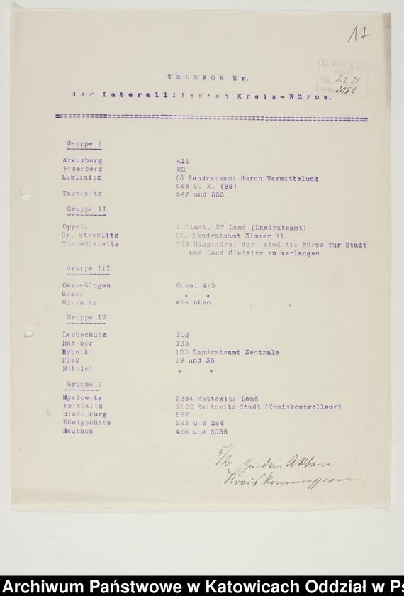 """Obraz 8 z kolekcji """"Niemiecki Komisariat Plebiscytowy Podkomisariat w Pszczynie 1919-1921"""""""