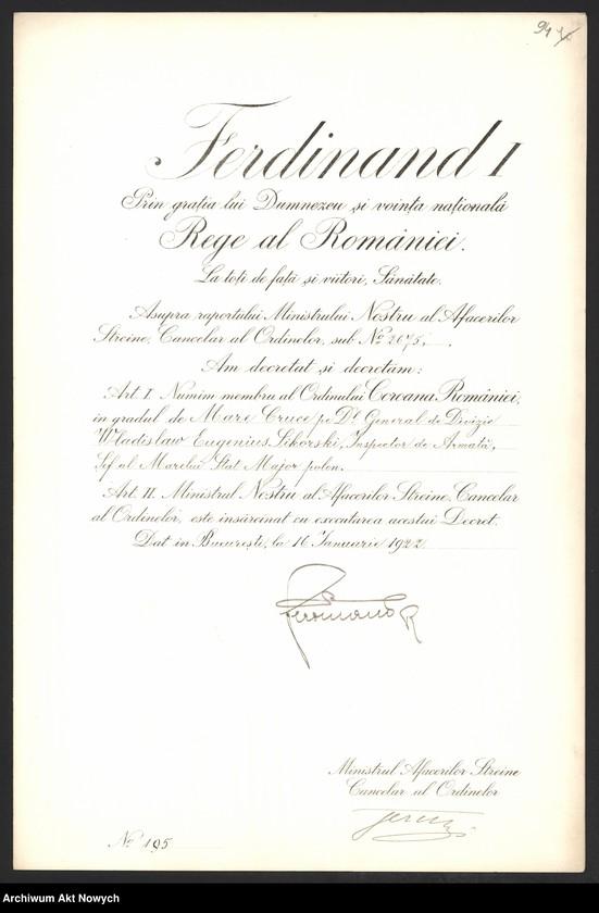 """Obraz 1 z kolekcji """"Władysław Sikorski - biografia w dokumencie archiwalnym"""""""