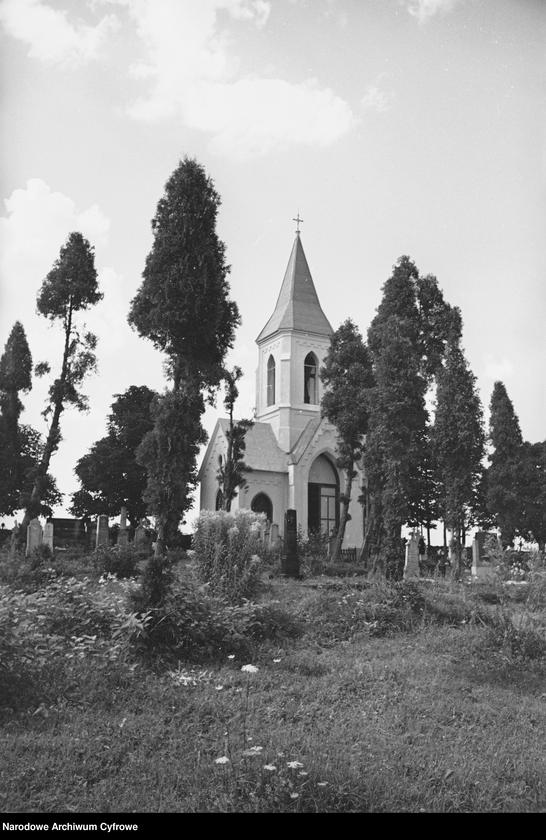 Obiekt Fragment cmentarza oraz kościół. z jednostki Krajobraz śląski