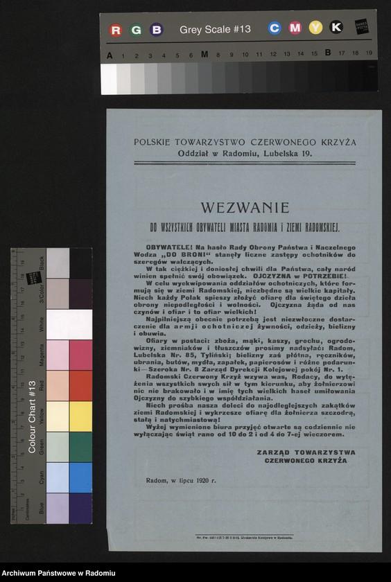 """Obraz 3 z kolekcji """"Polskie Towarzystwo Czerwonego Krzyża (Od 1927 r. Polski Czerwony Krzyż)"""""""