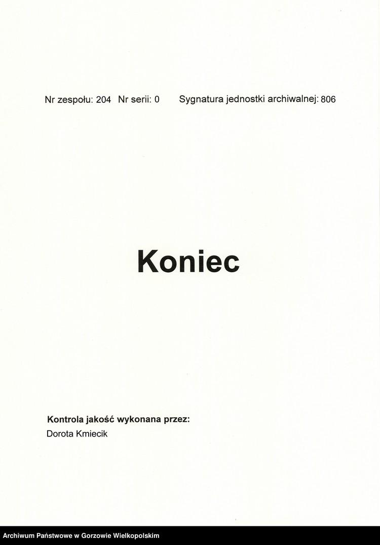 """Obraz z zespołu """"Akta miasta Międzyrzecza"""""""
