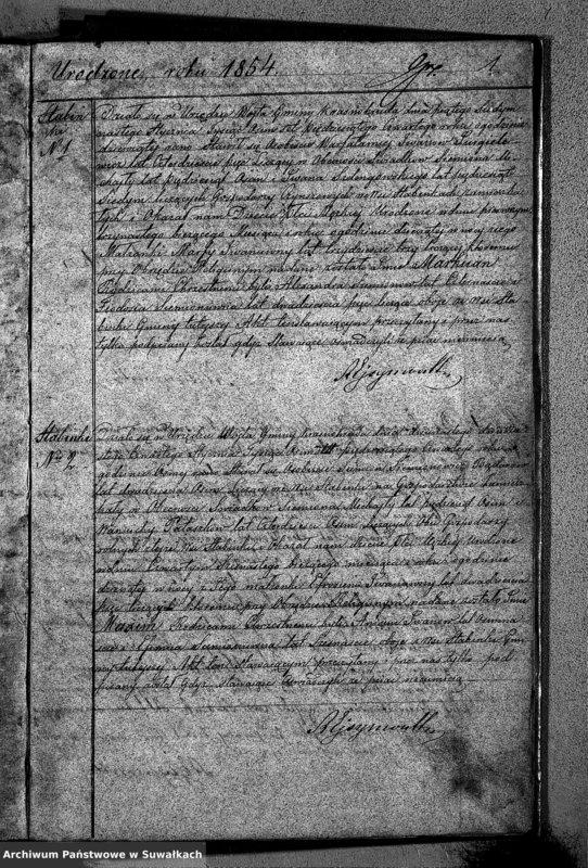 """image.from.unit """"Duplikat Urodzonych Zaślubionych i zmarłych Sekty Filiponów z Gminy Krasnohruda na rok 1854"""""""
