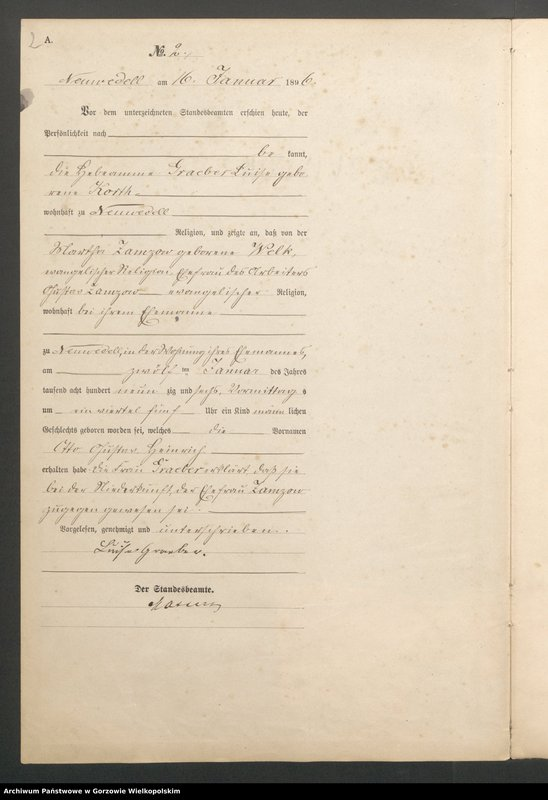 "Obraz 4 z jednostki ""Geburts Register"""