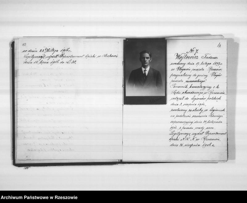 """Obraz 11 z jednostki """"Delegatura Departamentu Wojskowego N.K.W. Rzeszów (album superarbitrowanych Legionistów)."""""""