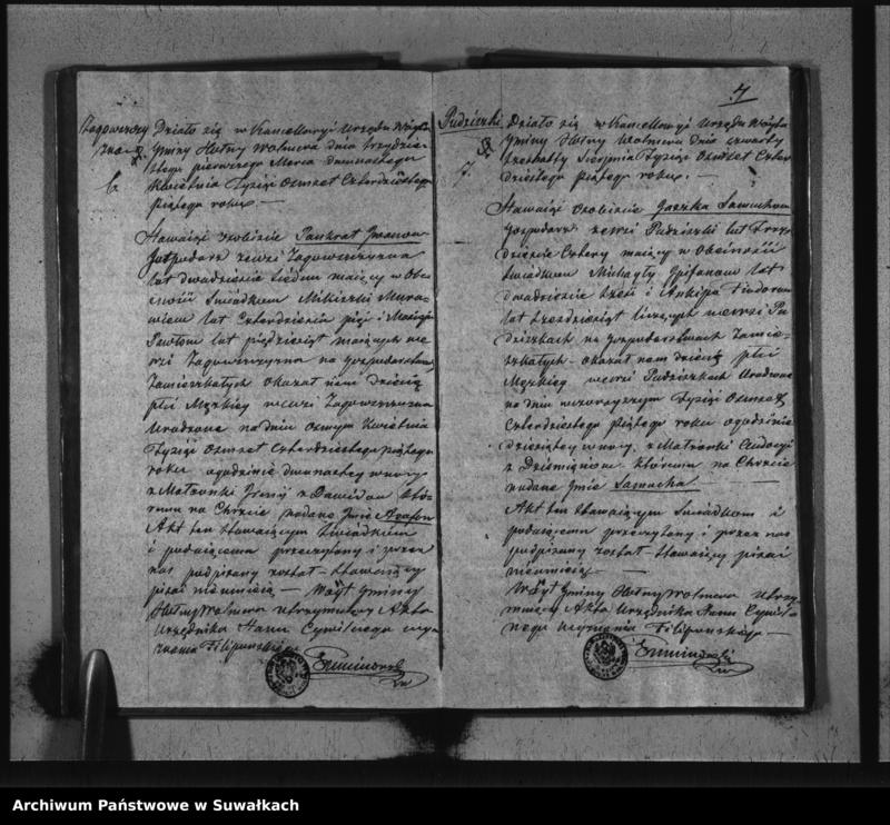 """image.from.unit """"Duplikat Sekty Filiponów gminy Hołny Wolmera z lat od 1843 do 1848"""""""