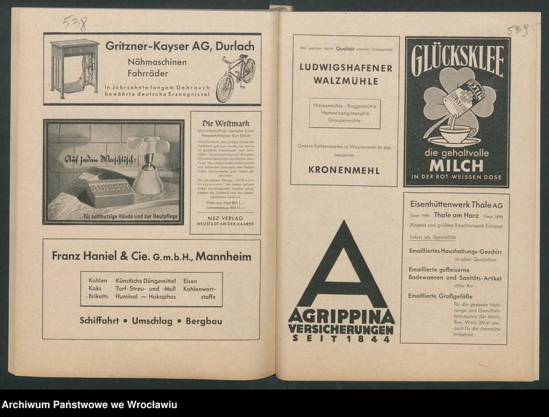 """Obraz 11 z kolekcji """"Reklamy znanych marek w roczniku """"Unsere Saar"""" z 1935 roku"""""""