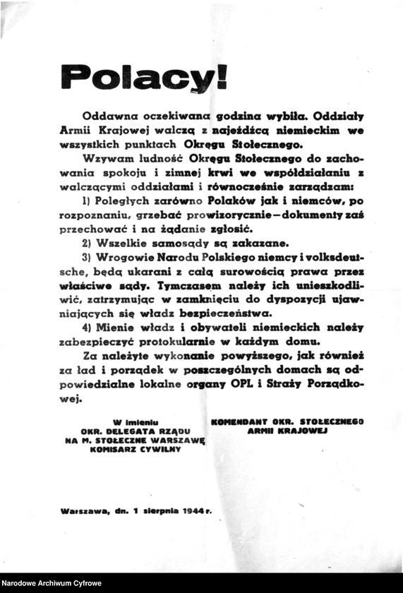 """Obraz 2 z kolekcji """"Powstanie Warszawskie 1944"""""""