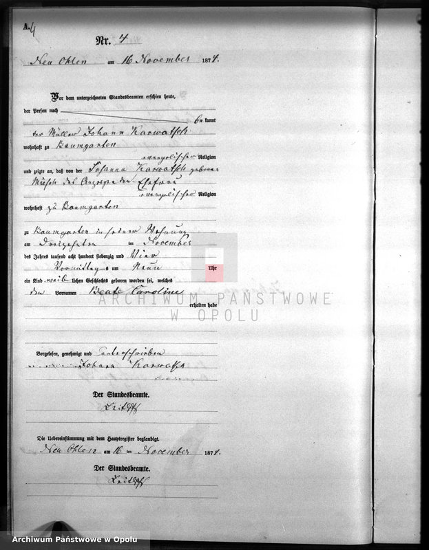 "image.from.unit.number ""Geburts-Neben-Register Amt Wilmsdorf 1874"""