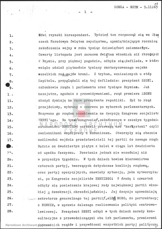 """Obraz 12 z jednostki """"Skrypty audycji z dnia 09.11.1963"""""""