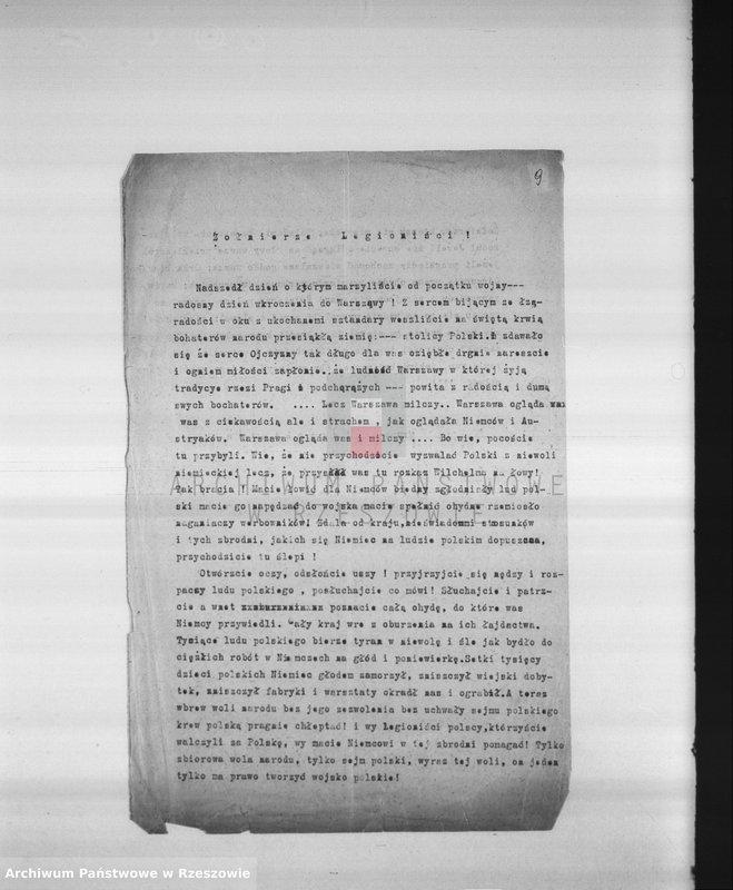 """Obraz 11 z kolekcji """"Legiony Polskie w zbiorach AP Rzeszów"""""""
