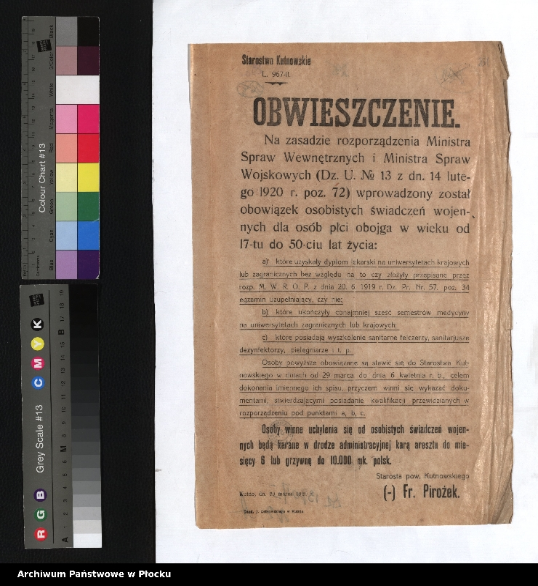 """Obraz 4 z kolekcji """"plakaty z wojny polsko-bolszewickiej"""""""