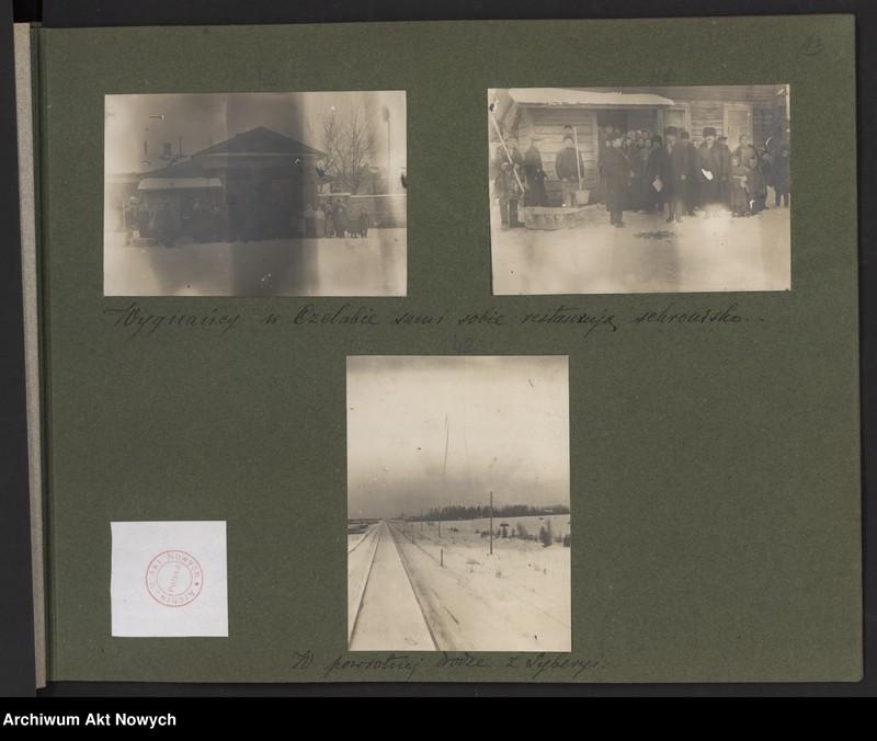 """Obraz 8 z kolekcji """"Album """"Szlakami wygnańców"""" 1915-1916"""""""