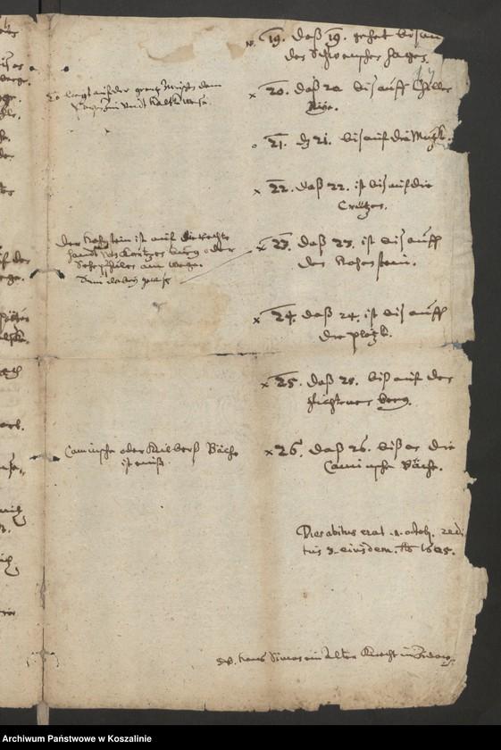 """Obraz 4 z kolekcji """"Granice miasta Koszalina. Tom I: 1558-1689 [odpis dokumentu z 1337 roku]"""""""