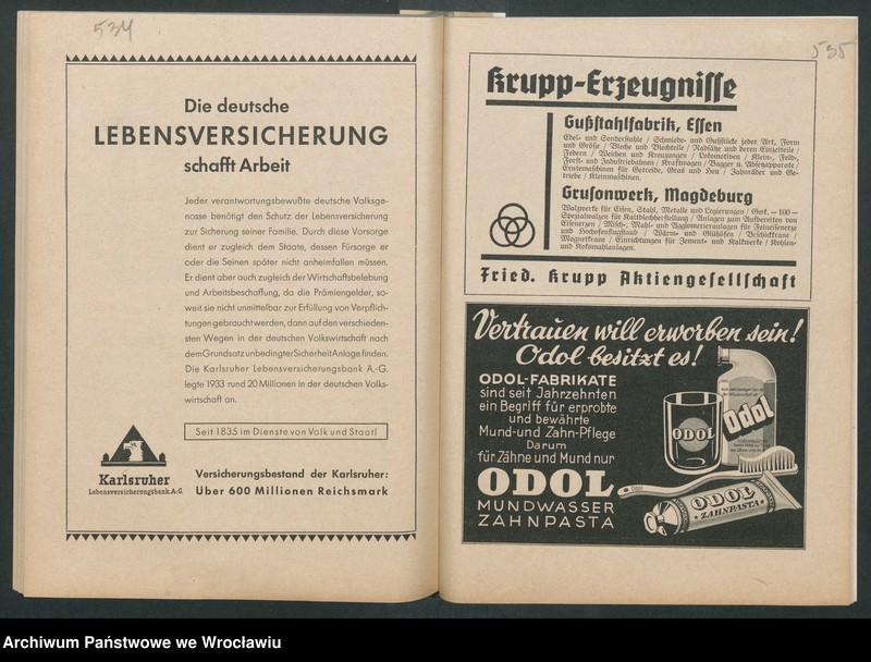 """Obraz 10 z kolekcji """"Reklamy znanych marek w roczniku """"Unsere Saar"""" z 1935 roku"""""""
