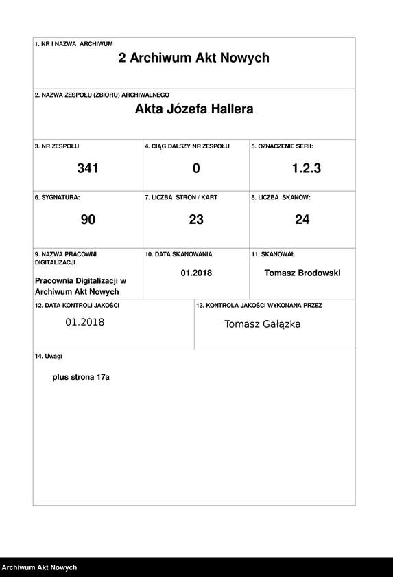 """Obraz 1 z jednostki """"Walki Armii Ochotniczej pod Warszawą. Wycinki prasowe."""""""