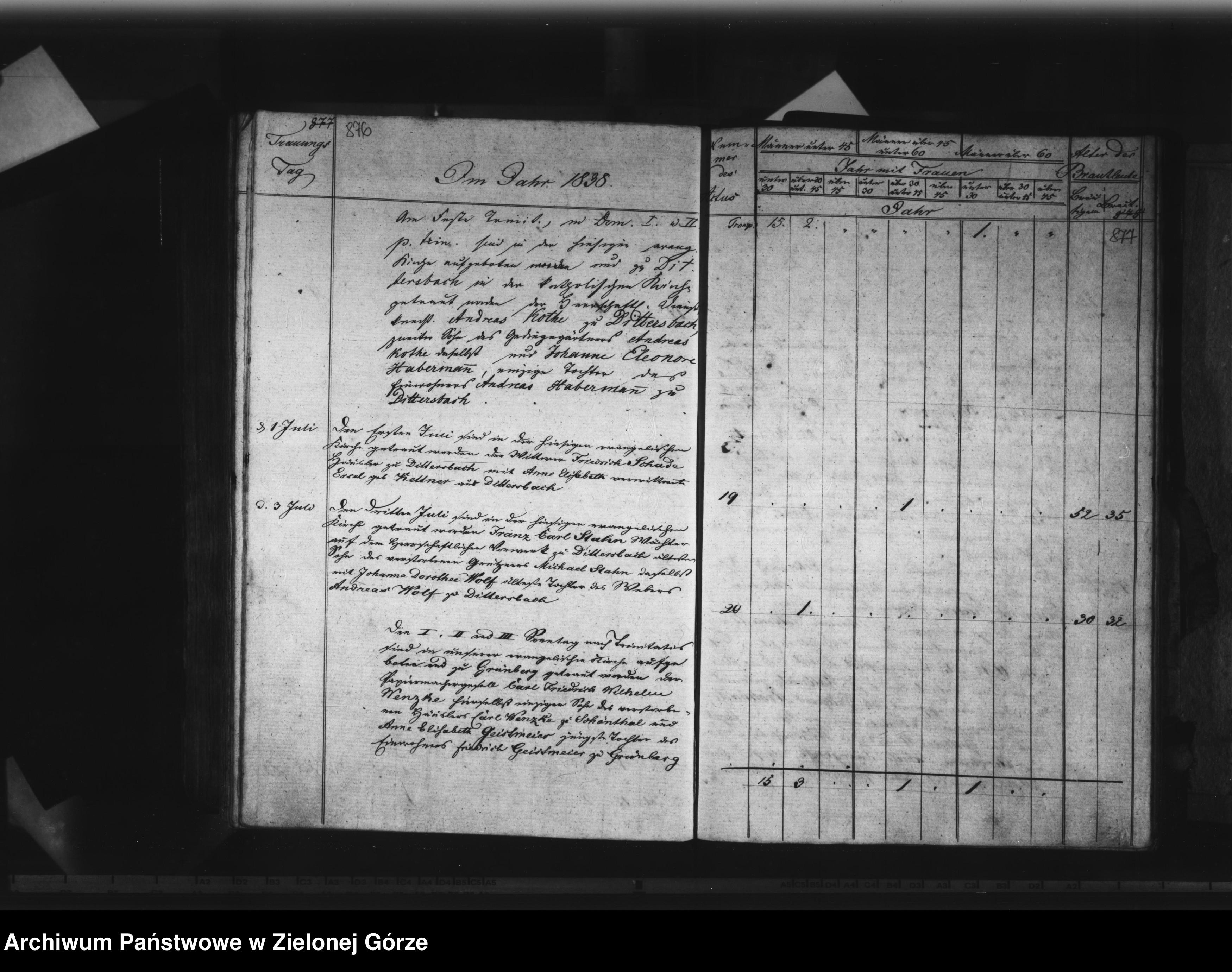 Skan z jednostki: Traubuch 1815 - 1839