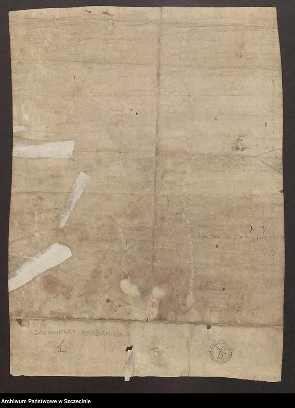 """image.from.collection.number """"Lokacja miasta Wolgast (Wołogoszcz) na prawie lubeckim - 1282 r."""""""