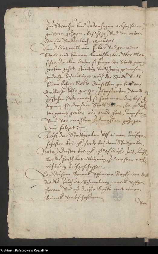 """Obraz 7 z kolekcji """"Granice miasta Koszalina. Tom I: 1558-1689 [odpis dokumentu z 1337 roku]"""""""
